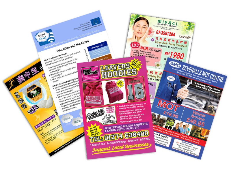 Single Side Leaflet (A3 Size, 120gsm - 310gsm)