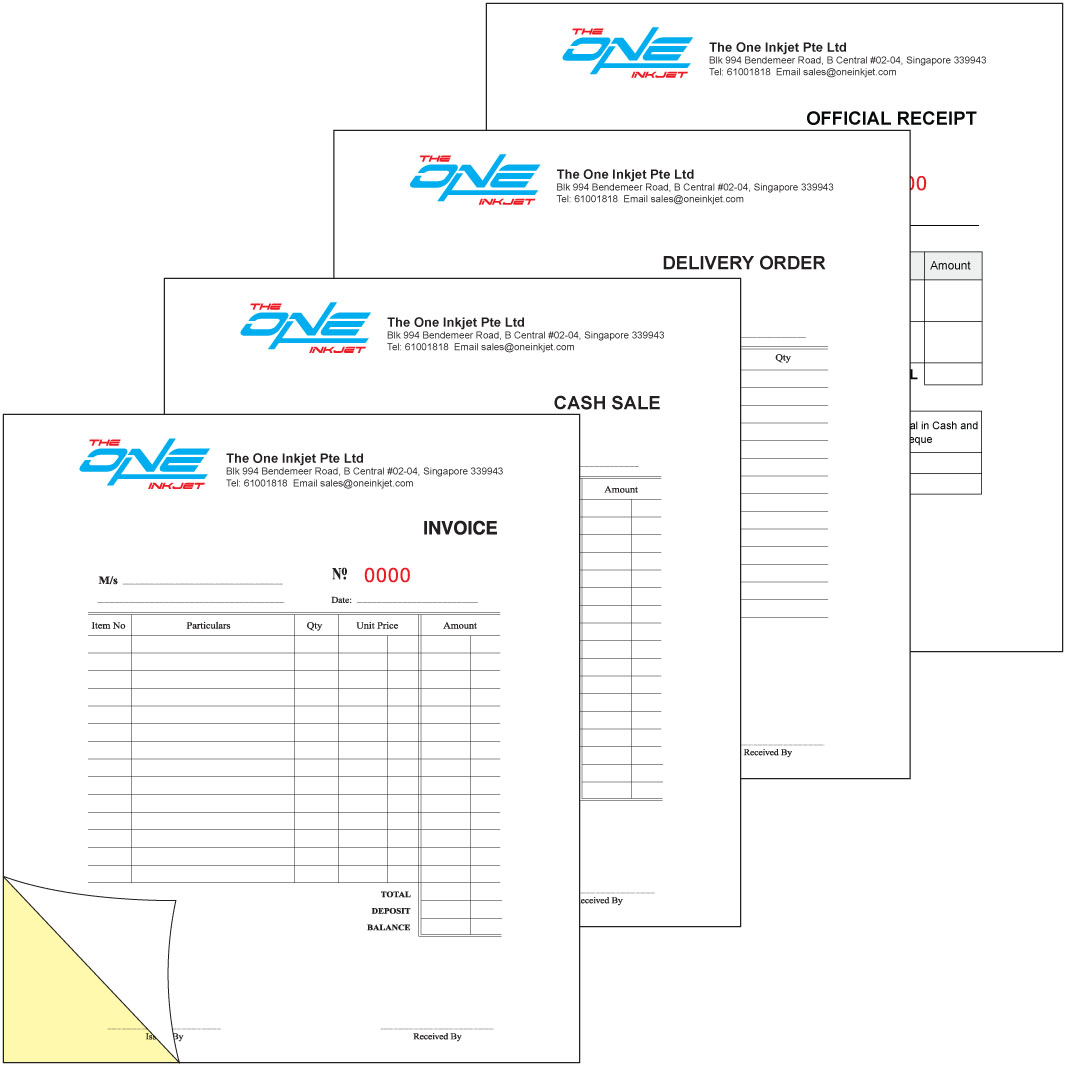 The One Inkjet Printing Services Singapore Printing Services - Invoice x