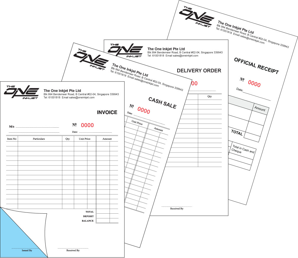 A5 (50 x 2ply, 1cx0c) Invoice/Delivery Order/Cash Sale/Receipt Book