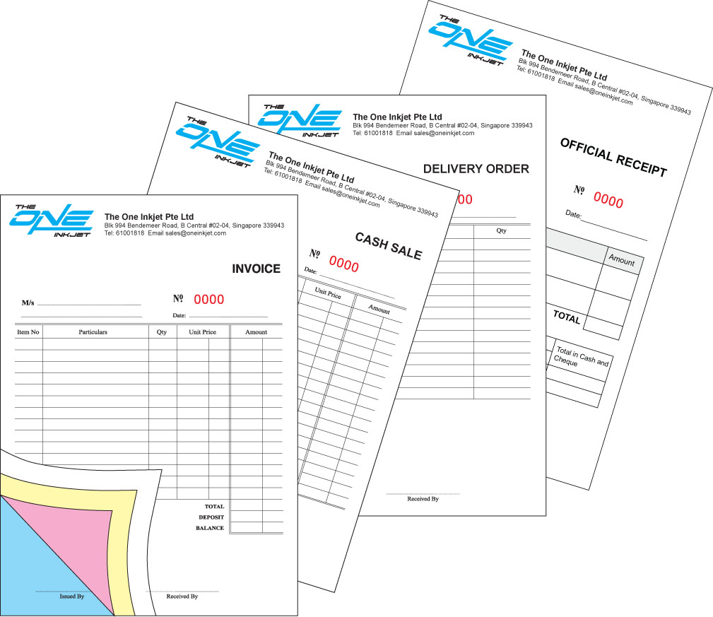 A5 (50 x 4ply, 2cx0c) Invoice/Delivery Order/Cash Sale/Receipt Book