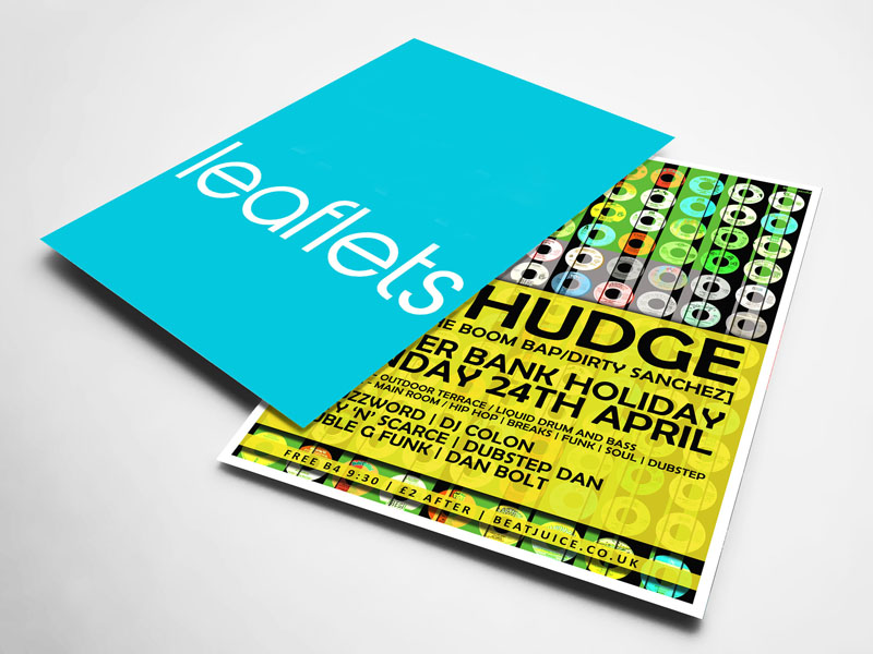 Double Side Fancy Leaflet (A6 Size)