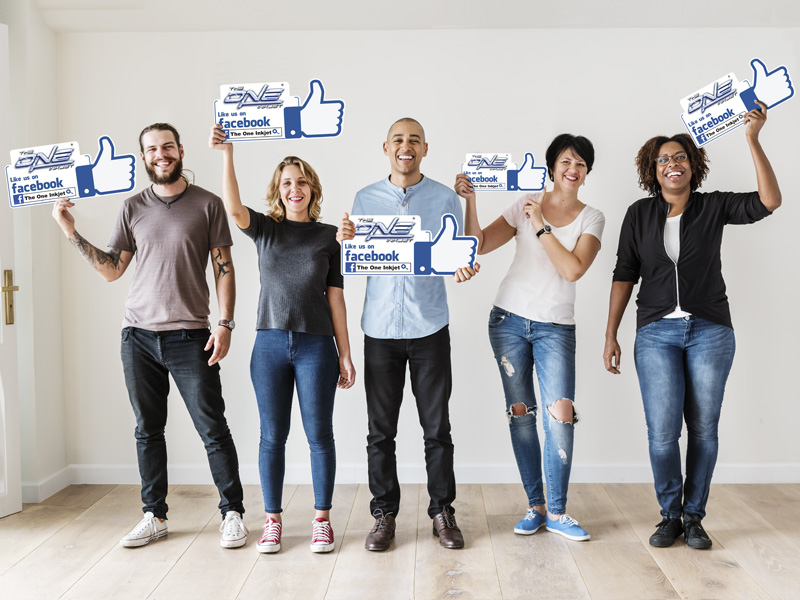Facebook Like Foam Board