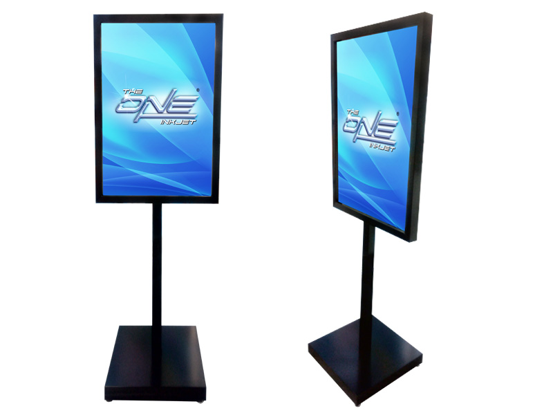 Small Apple Double Sided Poster Stand